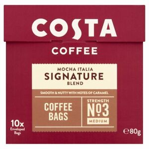 Costa Signature Blend Coffee Bags - New foil sealed packet