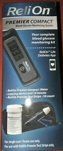 ReliOn premiere compact Blood Glucose Monitoring kit - 50 test strips NEW