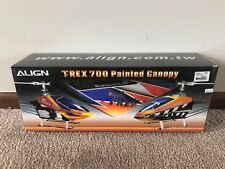 Brand New Align T-Rex 700E Painted Canopy in Orange & Blue - HC7507T