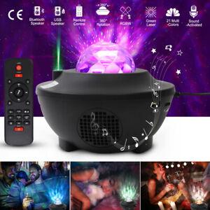 USB Galaxy Star Night Lamp LED Ocean Wave Projector Light Bluetooth + Remote