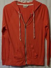 Mudd jacket M long sleeve full zipper pockets burnt orange hoodie medium