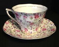Vintage Rosina Rose Bone China Chintz Tea Cup and Saucer, England
