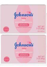 2 Johnson's Baby Bar Soap 3oz Gentle & Mild