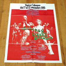 L'ALBERGO DEL LIBERO SCAMBIO manifesto poster Geppy Gleijeses Paola Quattrini 95