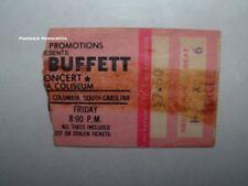 Jimmy Buffett 1979 Concert Ticket Stub Columbia South Carolina Coliseum Rare