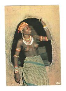 Ethnic nude Cameroun Afrique in couleurs Young girl Sare tribe Oudjila IRIS