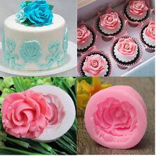 3D Rosen Silikon Form Blumen Kuchen Zuckerhandwerk Cutter Schimmel Fondant Mould
