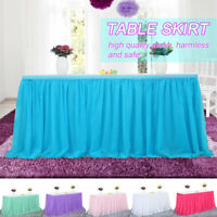 Rectangular Seamless Table Skirt Tablecloth Wedding Party Banquet Table Cloth