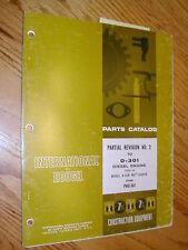 HOUGH International IH D-301 DIESEL ENGINE PARTS MANUAL BOOK CATALOG LIST H-50B
