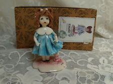 "Zampiva Ceramic Spaghetti Hair girl ""doll azure standing"" 530202 Signed w/Box"