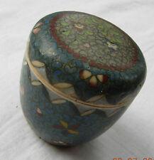 Totale dell'era Maji porcellana: una pentola con coperchio portagioie con disegni geometrici fiori &
