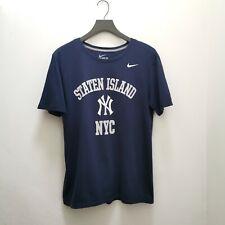 Vintage New York Yankees Mlb Nike Camiseta Camiseta-Azul Medio