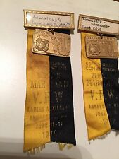 Vintage Ribbons 1970 50th Annual VFW Convention Dept Of Maryland Annapolis 1970