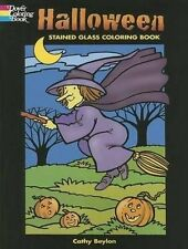 Halloween Samhain Stained Glass Coloring Book Wiccan Pagan Relax Calm Book