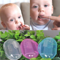 New Kids Baby Infant Soft Silicone Finger Toothbrush Teeth Rubber Massager& Box