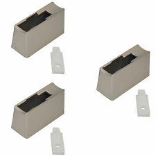 3x Westinghouse Refrigerator Door Handle Pedestal Mount + Insert Stainless Steel