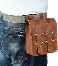 New listing Leather Belt Pouch Waist Bag Cell Phone Pouch Belt Loop Wallet Vintage Brown