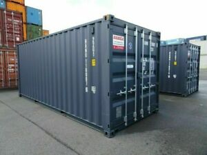 20`DV Seecontainer NEU RAL 7016 Lagercontainer Reifencontainer Stahlcontainer