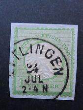 Nr.7 gestempelt,auf Briefstück,Pracht