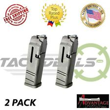 2 Pack Advantage Arms 22LR 10 Round Magazine Polymer for Glock Conversion 17 22