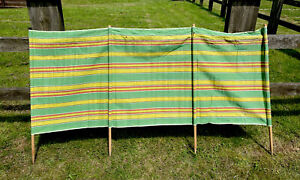 Vintage Striped Windbreak Sun Shade Campervan Camping VW Staycation Beach Camper