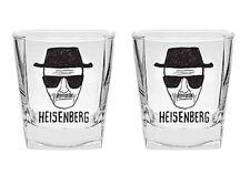 Breaking Bad Heisenberg Design 2 Piece Spirit Glass Set New In Gift Box
