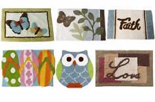 Bathroom Bath Rug Mat Butterfly Love Faith Owl Snowman Home Decor