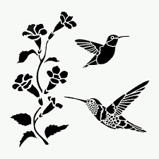 Hummingbird Stencil Hummingbirds Flowers Birds Big Template Paint Art New By Tcw