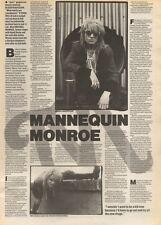 9/12/89Pgn23 Article & Picture 'mannequin Monroe' Rocks Prettiest Face Michael M