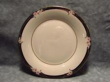"Enchantment TC1156 Royal Doulton 8"" Salad Plate VGC Pink Flowers Black Rim"