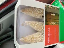 Opalhouse target bottle brush tree garland white/gold niv