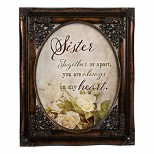 Sister Together Oval Amber 8 x 10 Oval Wall And Tabletop Photo Frame