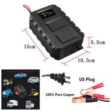 Universal 12V 20A Black Car Pickup Motorcycle Lead Acid Battery Charger US Plug