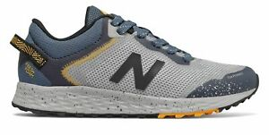 New Balance Kid's Fresh Foam Arishi Trail Big Kids Male Shoes Grey with Blue &