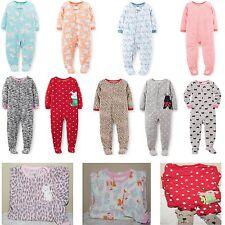 NWT $32 Carter's Girls Fleece Footed Pajamas 4 5 6 7 8 10 12 Christmas & Regular