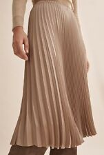 Country Road Pleated Satin Skirt Size 14
