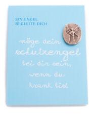 Handschmeichler MARIA LAACH Geschenk Karte Blau Spruch Engel Bronze Oval 25x20mm
