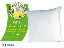 LOT DE 2 OREILLERS 60X60 GREENCARE. TRAITEMENT ANTI-ACARIENS NATUREL PHYTOPURE