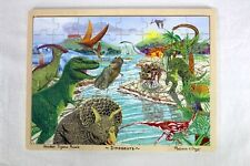 Melissa & Doug- Wooden Jigsaw Tray Puzzle Dinosaurs 45 Wood Pieces Ages 4+