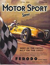 Motor Sport 10/49 Gwynne Eight, Riley 9, Earls Court Show, Prescott, Goodwood