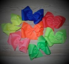 Super Cute (3) Boutique Hair Bows~Neon Bunch~Gifts~Party Favors~School~USA