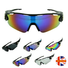 New Men Women Unisex Wrap Around Fit Cycling Sports Mirrored Lens Sunglasses UK