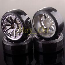 RC 1:10 Drift Car 10 Spoke GRAY Wheel Rim & Tyre For HSP 406T-1086