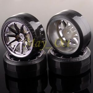 RC 1:10 Drift Car 10 Spoke GRAY Wheel Rim & Tyre For HSP 406T-1086
