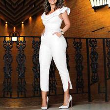 419ac5de868 Women off Shoulder Party Jumpsuit Playsuit Bodycon Belt Romper Trousers  Clubwear