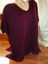 Forever 21 wine/berry dolman sleeve boxy oversized tunic sweater - Size M