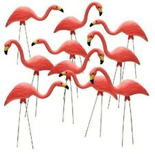 10 Pack 26 In Pink Flamingos Plastic Yard Garden Lawn Art Ornaments Retro Statue