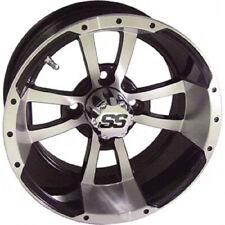 (1) Storm Trooper 12 inch Machined/Matte Black Golf Cart Wheel 3:4
