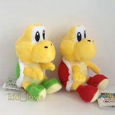 "2X New Super Mario Bros. Plush Koopa Troopa Soft Toy Stuffed Teddy 6"" Green Red"
