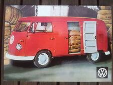 No. 58 Volkswagen Panel Van c1961 Postcard Vintage Ad Gallery VW219pc *RARE MINT